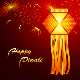 Hermosas tarjetas Diwali 02 Vector