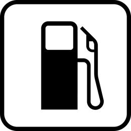 Vector de tablero de la muestra de gasolinera