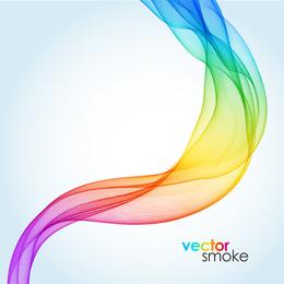 Hermosa sinfonía humo vector
