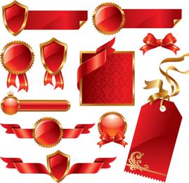 Red Ribbon Theme Vektor