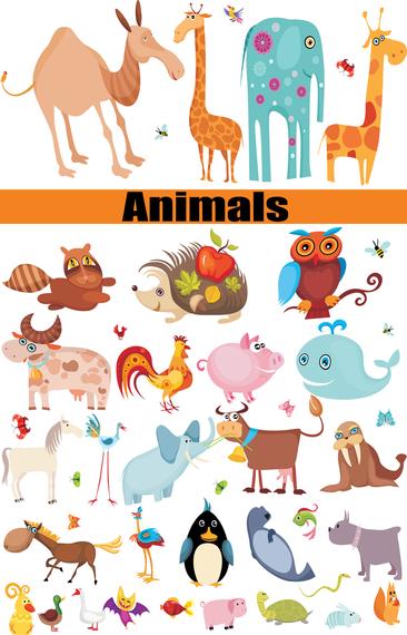 Un grupo de animales era vector