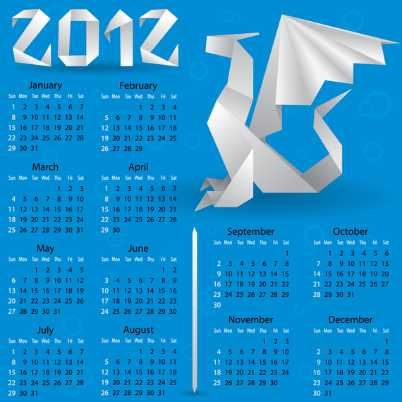 Calendar 2012 Calendar 04 Vector