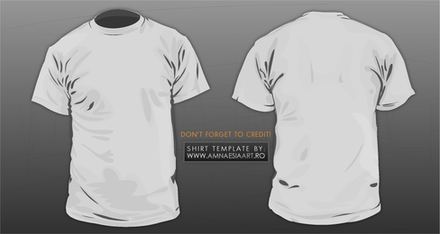 T Shirt Template Vector 3