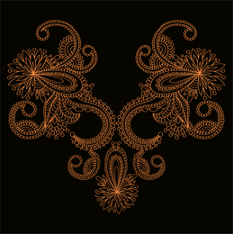 Orange Lace Vector 2