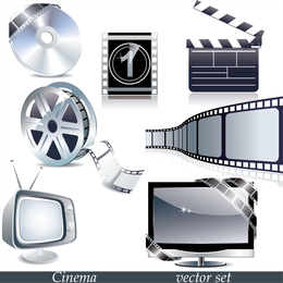 Tv Movie Theme Vector