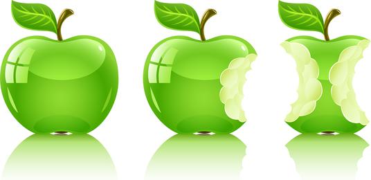 Vector Green Apple 2