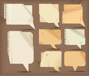 Dialogue Bubble Paper Vector 4