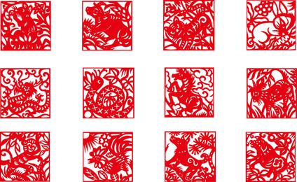 Zodiac Papercut Vector 3