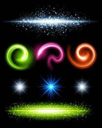 Efeitos de iluminação brilhante lindo 06 Vector
