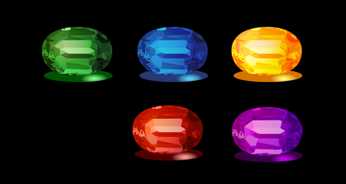 Emeralds And Other Precious Stones Vector Original