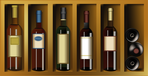 Garrafas de garrafas de vinho Colar de vinho e vinhos Vintage Posters Vector