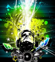 Musik-Plakat-Vektor-Illustration