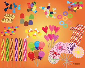 Vector Candies And Sweets 2