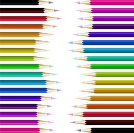 Lápiz colorido ilustraciones sobre blanco