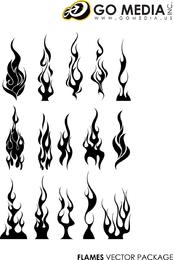 Go Media Produced Vector Cool Flames
