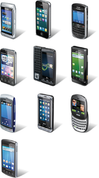 Conjunto de vetores de smartphone