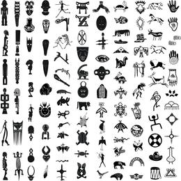 Vector de elementos de diseño africano 02