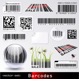 Vector de tema de código de barras