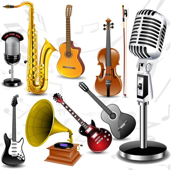 Vector De Instrumentos Musicales Finos Descargar Vector
