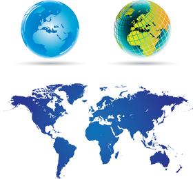 Mapa del mundo 02 Vector