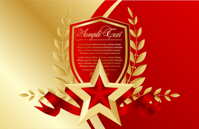 Marcadores Red Fivepointed Star Vector 3
