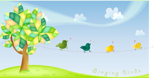Free Singing Birds Vector