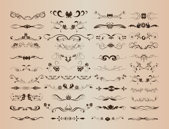 Vector Set For Ornate And Decoration Elements