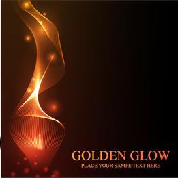 Vetor de luz dourada deslumbrante
