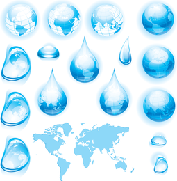 Variety Of Water Droplets Water Droplets Earth Vector