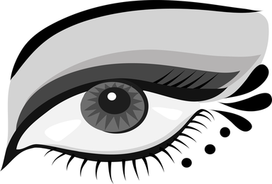 Hand Painted Eyes Vector