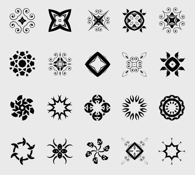 20 elementos decorativos descargar vector