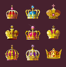 Crown Vector Set