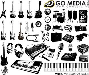 Instrumentos musicales de gráficos vectoriales