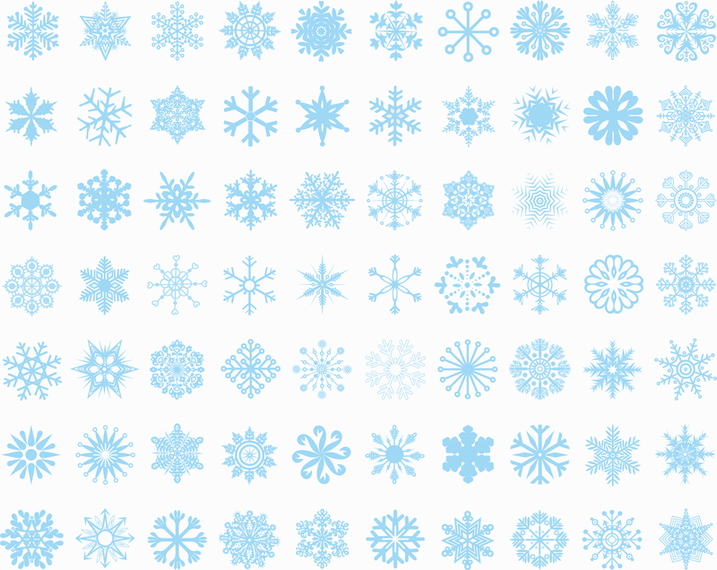 Big Set Of Vector Snowflakes