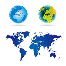 Vector mapa del mundo 5