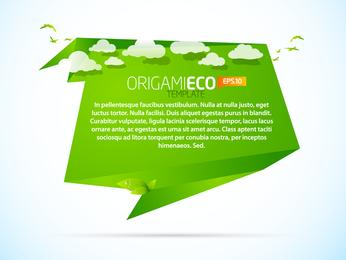 Vetor De Origami Verde Animais 03