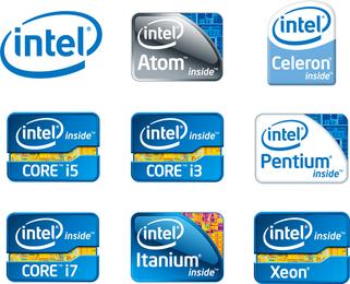 Vetor de logotipos de chip da Intel