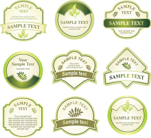Download Vector - Green Bottle Label Vector - Vectorpicker