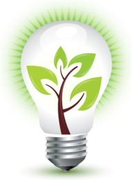 Grüne ideale Energie