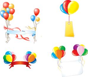 Vetor de balões de festa linda