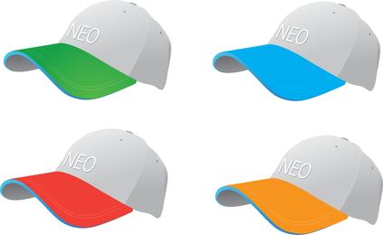 Vector de gorras de béisbol colorido