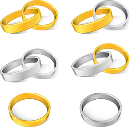 Wedding Rings Vector 2