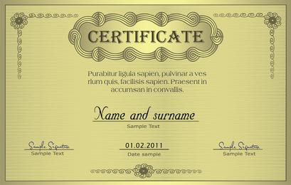 European Certificate 04 Vector