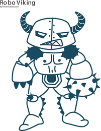 Robo Viking Vector