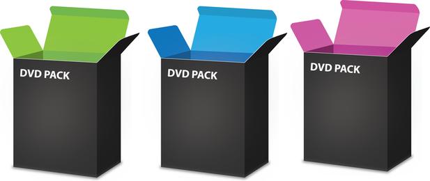 Vector libre caja de DVD