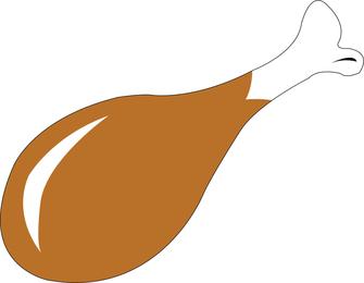 Vector de pierna de pollo