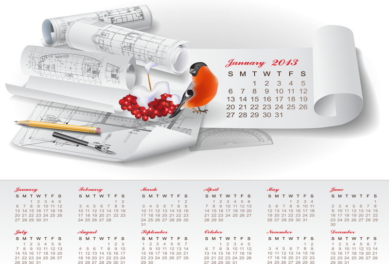 Creative Calendar 2013 Design Vector