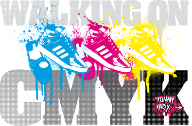 Walking On Cmyk Design Tommybrix