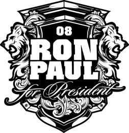 Ron Paul Lions emblemas Vector