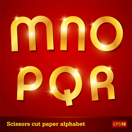 Glittering Letters Of The Alphabet 02 Vector